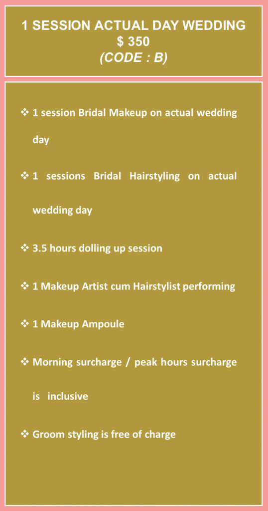 Bridal Makeup Rates B